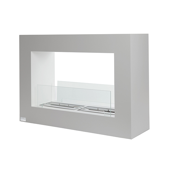 Bio-Blaze Qube Large Ventless Ethanol Fireplace, White or Black Steel