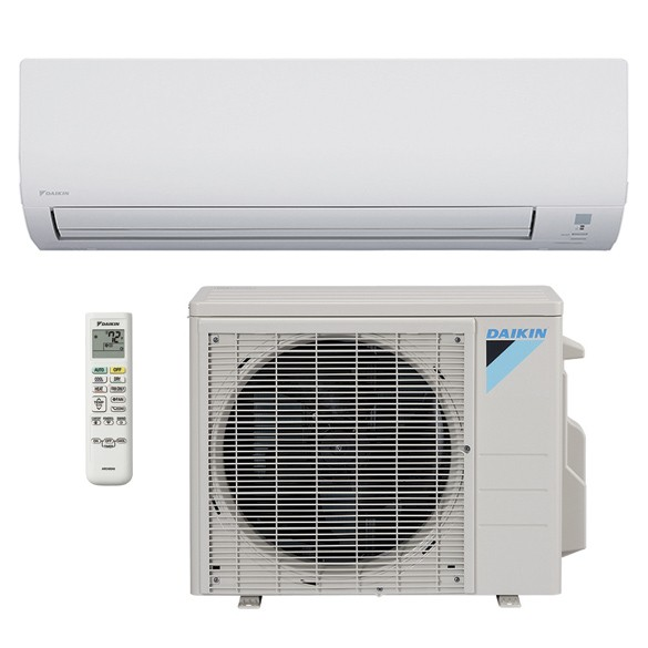 9,000 BTU Daikin 15 SEER Wall-Mounted Ductless Mini-Split Inverter Air Conditioner Heat Pump System (230 Volt)