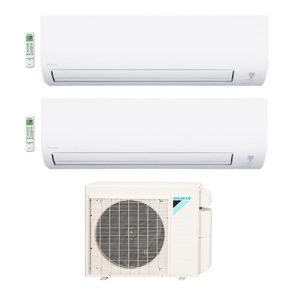 2-Zone Daikin 17 SEER Aurora Series LV Ductless Multi-Zone Inverter Air Conditioner Heat Pump (9K + 12K BTU)