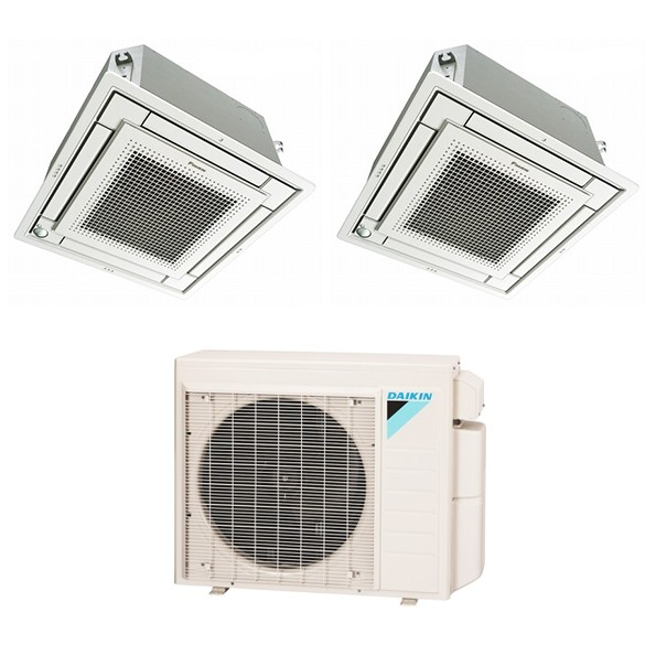 2-Zone Daikin 17.9 SEER MXS Series Vista Ductless Multi-Zone Inverter Air Conditioner Heat Pump (12k + 18K BTU)