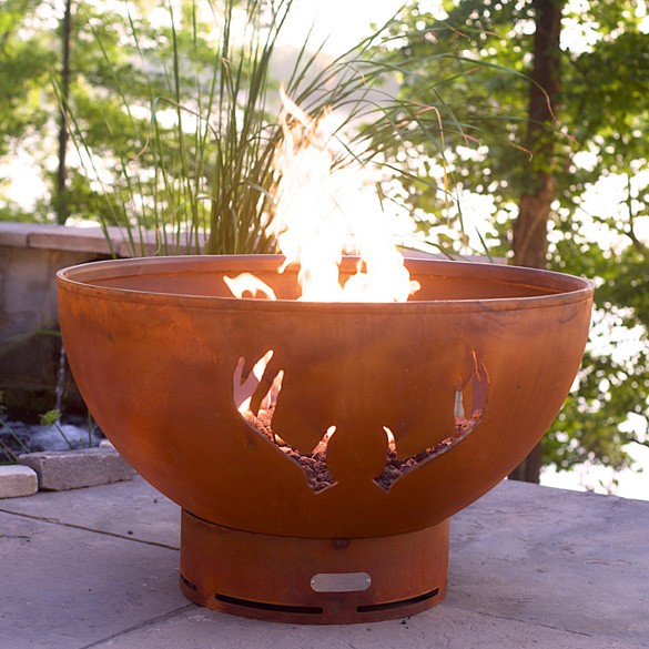 Antlers Outdoor Gas Fire Pit with Electronic Ignition