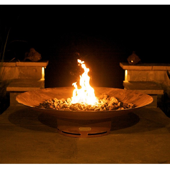 Asia 48 Inch Outdoor Gas Fire Pit with Electronic Ignition