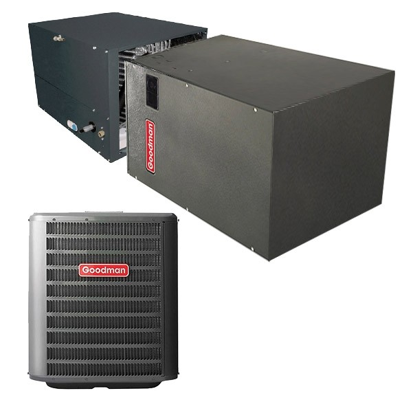 4 Ton Goodman 15 Seer Variable Speed Central Air Conditioner Heat Pump Horizontal System