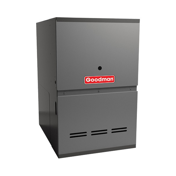 100,000 BTU Goodman GCVC81005CX 80 % Efficiency 2-Stage Upflow/ Horizontal Gas Furnace Heater