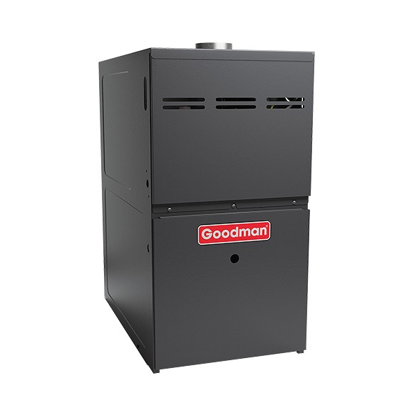 60,000 BTU Goodman GMH80603AX 80 % Efficiency 2-Stage Upflow/ Horizontal Gas Furnace Heater