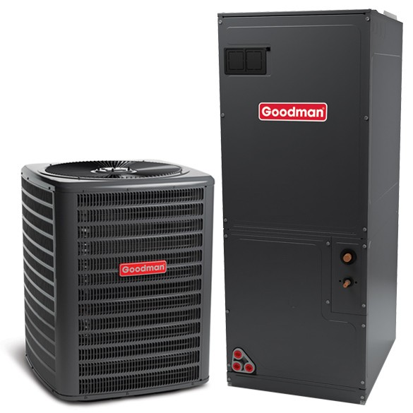 3 Ton Goodman 15 SEER Central Air Conditioner Heat Pump Multi-Position System