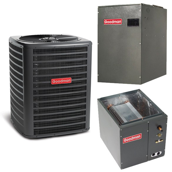 3 Ton Goodman 14.5 SEER 2 Stage Variable Speed Central Air Conditioner Heat Pump Upflow/Downflow System
