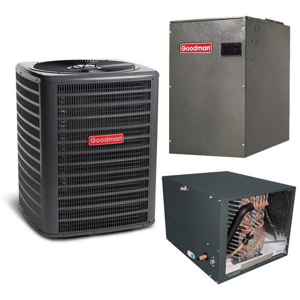 2.5 Ton Goodman 15 Seer Variable Speed Central Air Conditioner Heat Pump Upflow/Downflow System