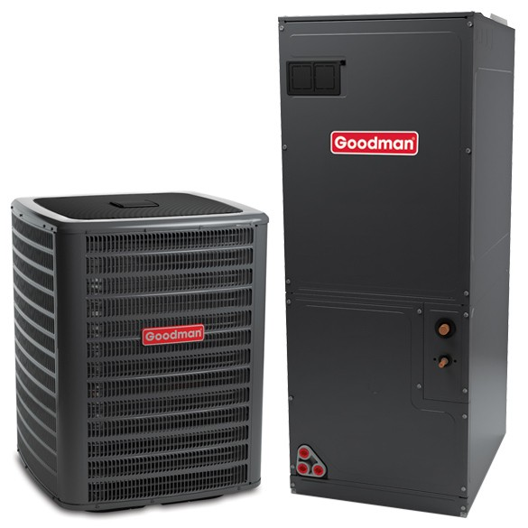 Central Heating Amp Cooling Unit : Ton goodman seer central air conditioner heat pump