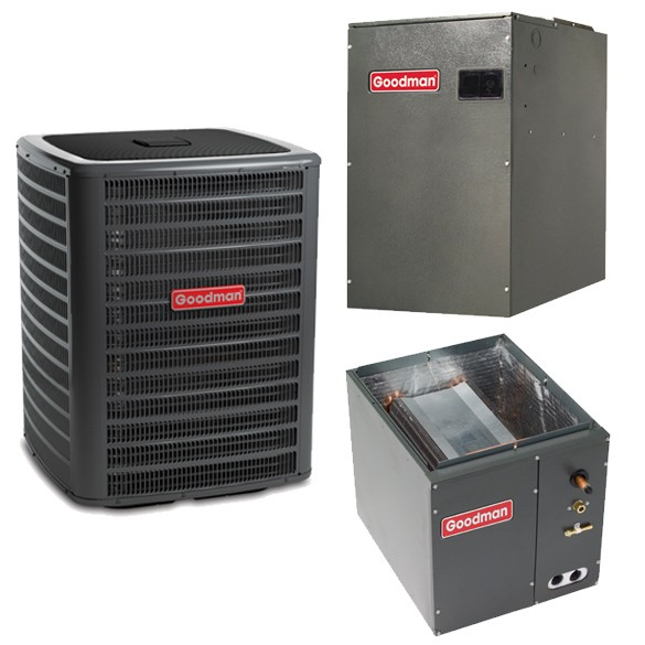 2 Ton Goodman 16 SEER  Variable Speed Central Air conditioner Heat Pump Upflow/Downflow System
