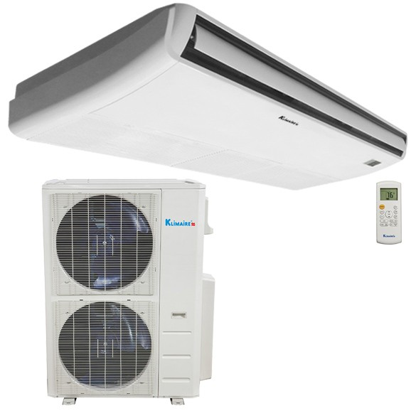 Image result for 48,000 BTU Klimaire Decorative Ductless Floor/Ceiling Fan Coil Unit With 48,000 BTU 16 SEER Heat Pump Air Conditioner 208-230V