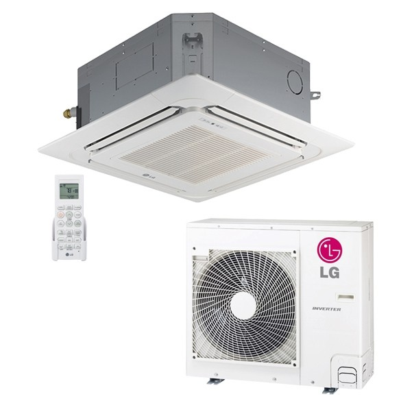 lg mini split. lg 18,000 btu 20 seer ceiling cassette ductless mini-split inverter heat pump system lg mini split