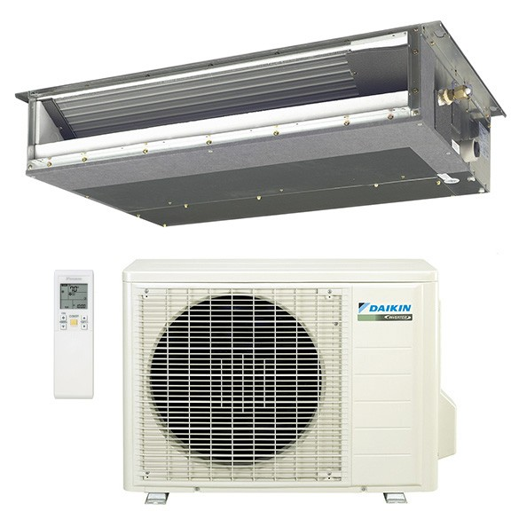 12 000 Btu Daikin 15 Seer Concealed Slim Duct Mini Split Inverter Air Conditioner Heat Pump System 230 Volt