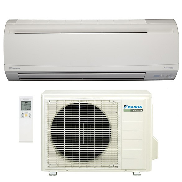 9,000 BTU Daikin 24 SEER Wall-Mounted Ductless Mini-Split Inverter Air Conditioner Heat Pump System (230 Volt)