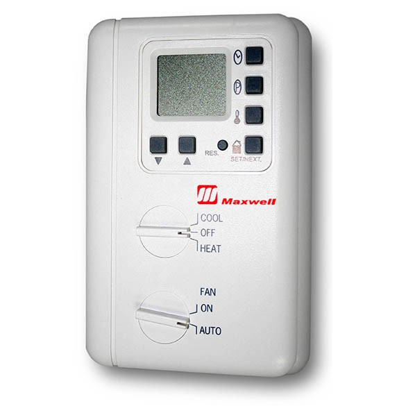 Maxwell 1-Stage Heat and Cool 7-Day Programmable Digital LCD Thermostat