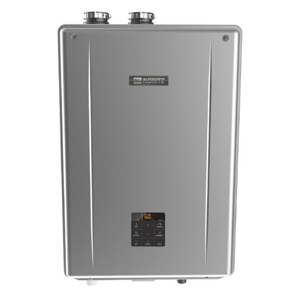 Noritz NRCB199 Indoor Direct Vent Combination Boiler (Standard Vent Convertible) with Built-In Pump, max 199,900 Btuh DHW, 11.1 Gpm, 120,000 Btuh SPACE HEATING