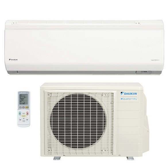 9,000 BTU Daikin 26 SEER Quaternity Wall-Mounted Ductless Mini-Split Inverter Air Conditioner Heat Pump System (230 Volt)