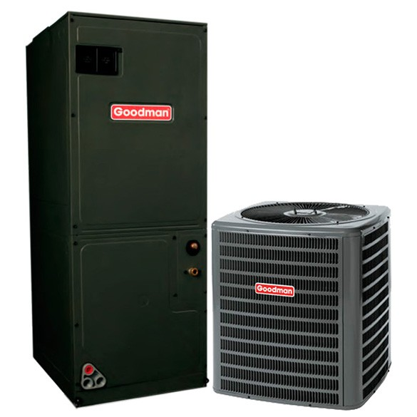 2 Ton Goodman 15 SEER Central Air Conditioner Heat Pump System