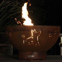 Funky Dog Outdoor Gas Fire Pit with Electronic Ignition
