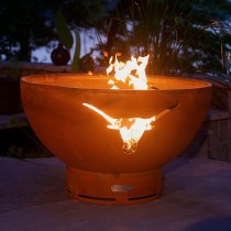 Longhorn Outdoor Gas Fire Pit with Electronic Ignition