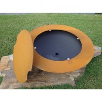 Magnum Outdoor Gas Fire Pit with Lid and Electronic Ignition
