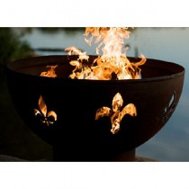 Fleur de Lis Wood Burning Fire Pit