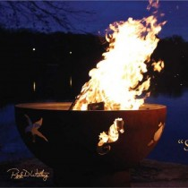 Sea Creatures Wood Burning Fire Pit
