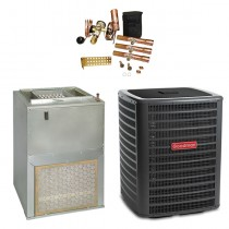3 Ton Goodman 14.5 SEER Wall Mounted Air Handler (EEM motor) with 10 kW Heater Central Air Conditioner System