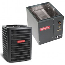 3.5 Ton Goodman 14.5 SEER Condenser GSX160421 and Cased Coil CAPF3743C6 Upflow/Downflow System with TXV