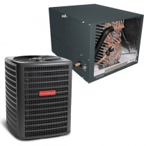 2 Ton Goodman 14.5 SEER Condenser GSX160241 and Cased Coil CHPF3636B6 Horizontal System with TXV