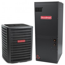 4 Ton Goodman 16 Seer Central Air Conditioner Heat Pump Multi-Position System