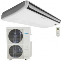 60,000 BTU Klimaire Decorative Ductless Floor/Ceiling 18 SEER Inverter Heat Pump Air Conditioner System 208-230V