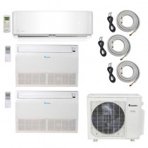 3-Zone Klimaire 22.5 SEER Ductless Multi-Zone Inverter Air Conditioner Heat Pump with 25ft Installation Kits