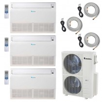 3-Zone Klimaire 21.5 SEER Ductless Multi-Zone Inverter Air Conditioner Heat Pump with 25ft Installation Kits