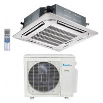 36,000 Btu Klimaire 17.3 SEER  Light Commercial Ceiling Cassette - Inverter Heat Pump System - 208-230V