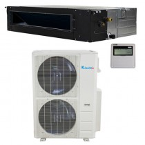 48,000 Btu Klimaire 17.4 SEER  Light Commercial Ducted Recessed - Inverter Heat Pump System - 208-230V