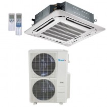 48,000 Btu Klimaire 16.8 SEER  Light Commercial Ceiling Cassette - Inverter Heat Pump System - 208-230V