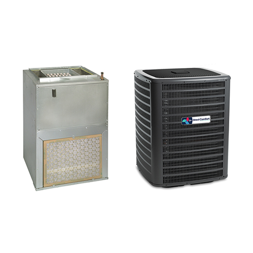 2 Ton Direct Comfort 14 SEER Wall Mounted Air Handler (EEM motor) with 3 kW Heater Central Air Conditioner System HCDCG1406