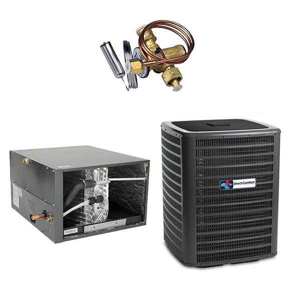 1.5 Ton Direct Comfort 14.5 SEER Condenser GSX160181 and Cased Coil CHPF3636B6 Horizontal System with TXV HCDCG1428