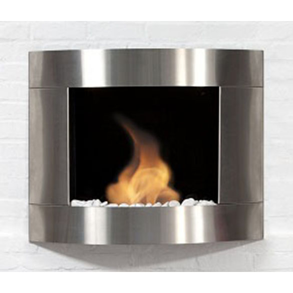 Bio-Blaze Diamond II Stainless Steel Ventless Ethanol Fireplace