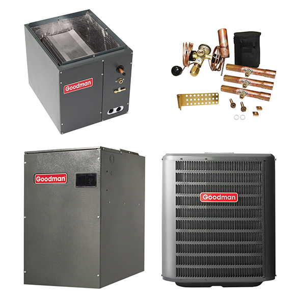 2 Ton Goodman 16 SEER 2 Stage Variable Speed Central Air Conditioner Upflow/Downflow System HCGMC2741