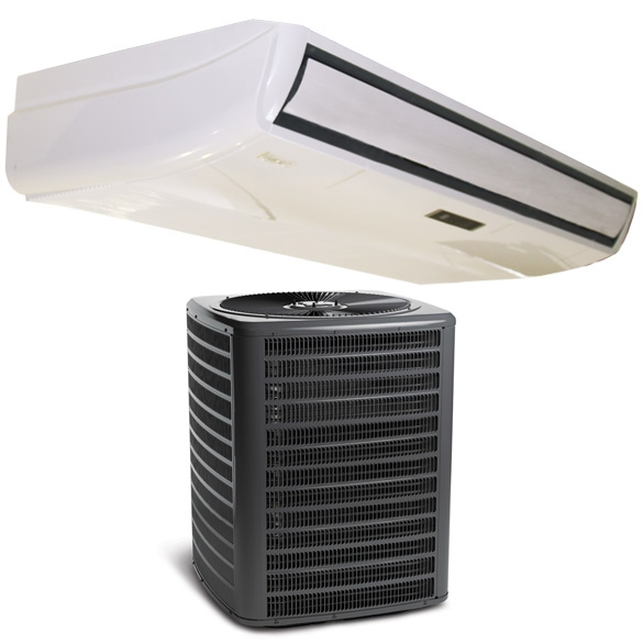 36,000 BTU Klimaire Ductless Mini-Split Floor/Ceiling Fan Coil Unit with 36,000 BTU 16 SEER Air Conditioner HCKPI1808