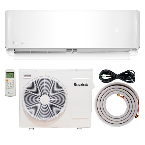 Klimaire's newly launched KSIE Series ductless mini-split air conditioner heat pumps focus on technology that protects your system and puts absolute comfort at your fingertips. A microprocessor in the main electronic control board is the brain of the system. It allows you to enjoy the full range of high efficiency with the LED remote control. Expect lower energy bills due to the system's high efficiency 20.5 SEER rating. On top of that, built-in system safeguards including self-diagnostics/error code display and refrigerant leak detection make maintenance simple. 2-way airflow & long-range air discharge Adjustable louvers and auto-swing Self-cleaning function With DC inverter variable speed technology, frequent thermostat adjustments become a thing of the past. Just choose a setting on your thermostat once and the system will auto adjust to keep the temperature steady. Inverter technology combined with air conditioner heat pump can generate energy savings up to 49% compared to standar
