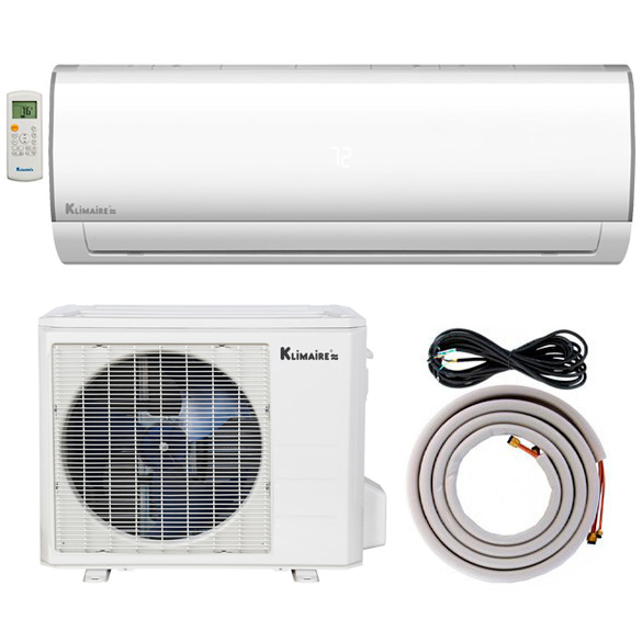 24,000 BTU Klimaire 15 SEER Ductless Mini-Split Inverter Air Conditioner Heat Pump WiFi Enabled System With 25 Ft Installation Kit (230 Volt) HCKPI1820