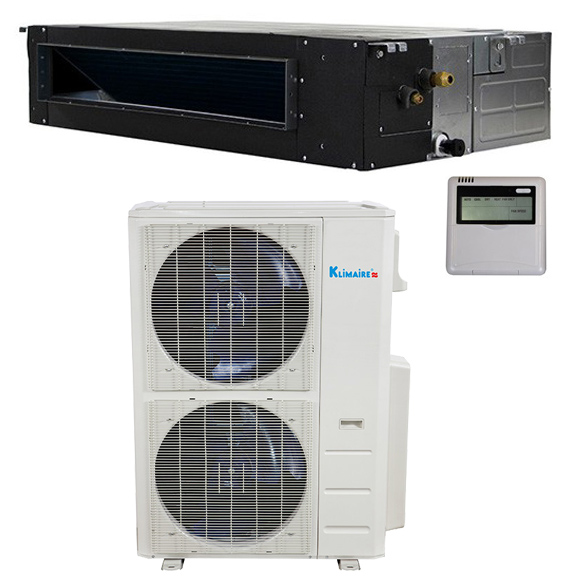48,000 Btu Klimaire 17.4 SEER Light Commercial Ducted Recessed - Inverter Heat Pump System - 208-230V HCKPI1875