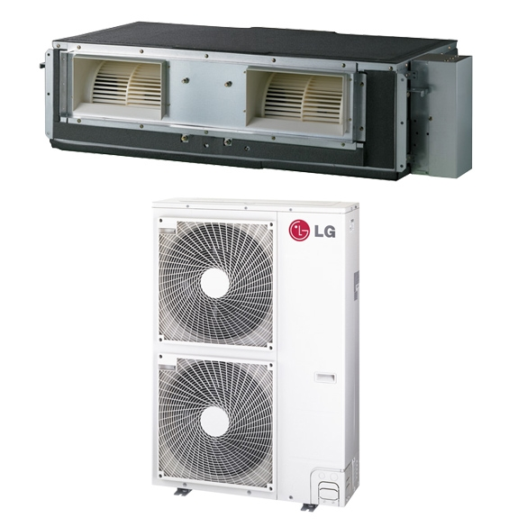 36,000 BTU LG 17.6 SEER High Static Ceiling Concealed Ducted Mini Split Air Conditioner Heat Pump System - Heat and Cool