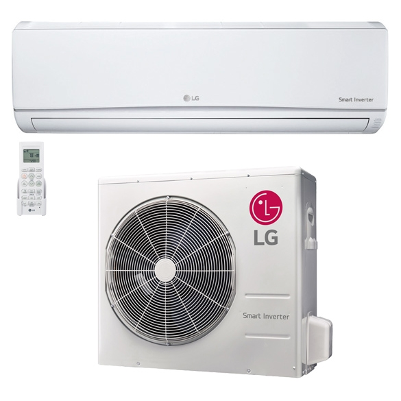 30,000 BTU LG 18 SEER Wall-Mounted High Efficiency Ductless Mini-Split Inverter Air Conditioner Heat Pump System HCLGE1198