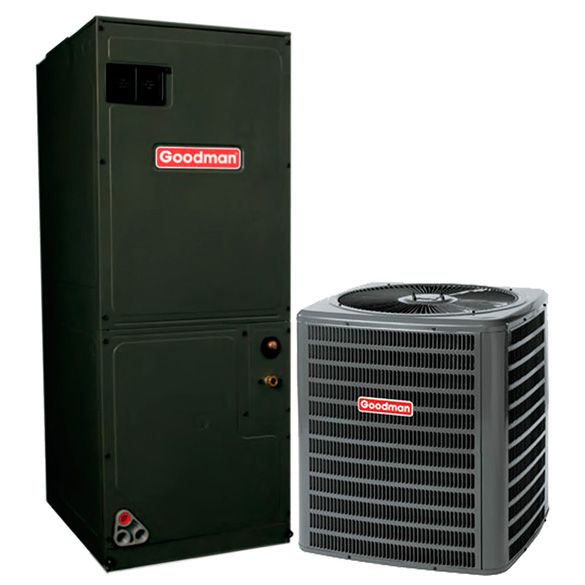 2 Ton Goodman 15 SEER Central Air Conditioner Heat Pump System HCGMC1051