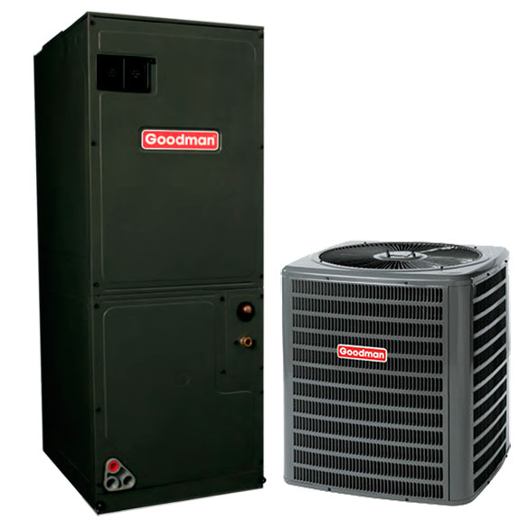 3 Ton Goodman 16 SEER Central Air Conditioner System HCGMC1065