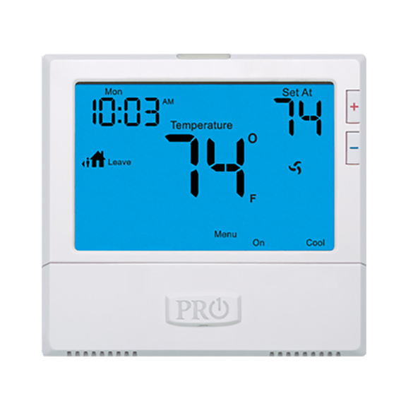 T855 3H/2C 5+1+1 or 7 day non-programmable wired thermostat by Heat and Cool